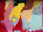 Figuration libre au cousr de peinture et dessin Entretoile